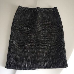 Theory Tweed Wool Blend A Line Skirt Pencil